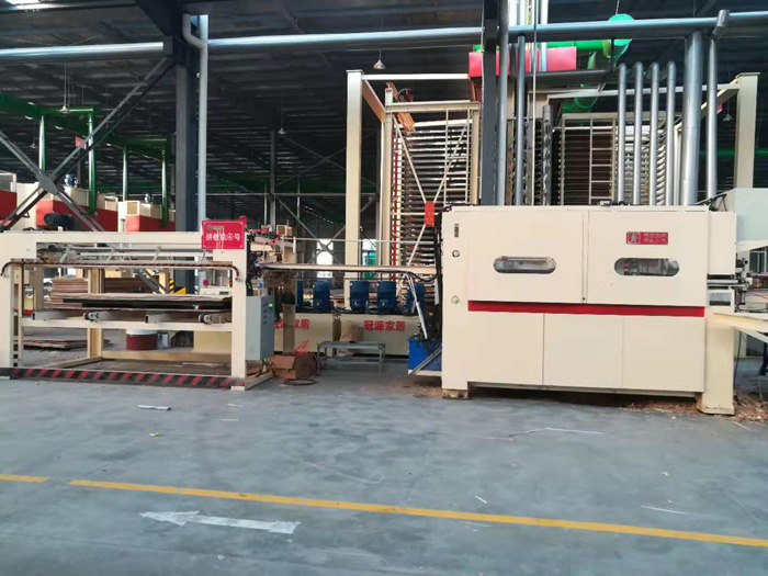 continous vertical Veneer finger jointing machine